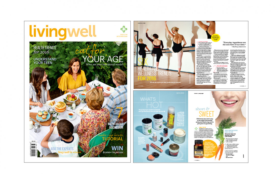 Latest 'Living Well' cover