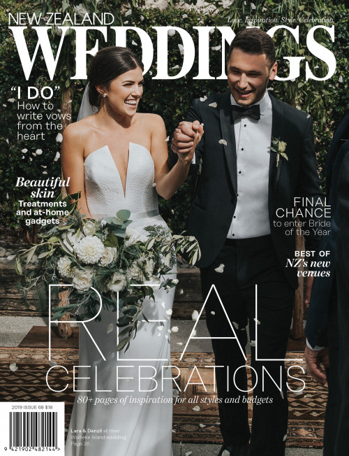 New Zealand Weddings Magazine cover